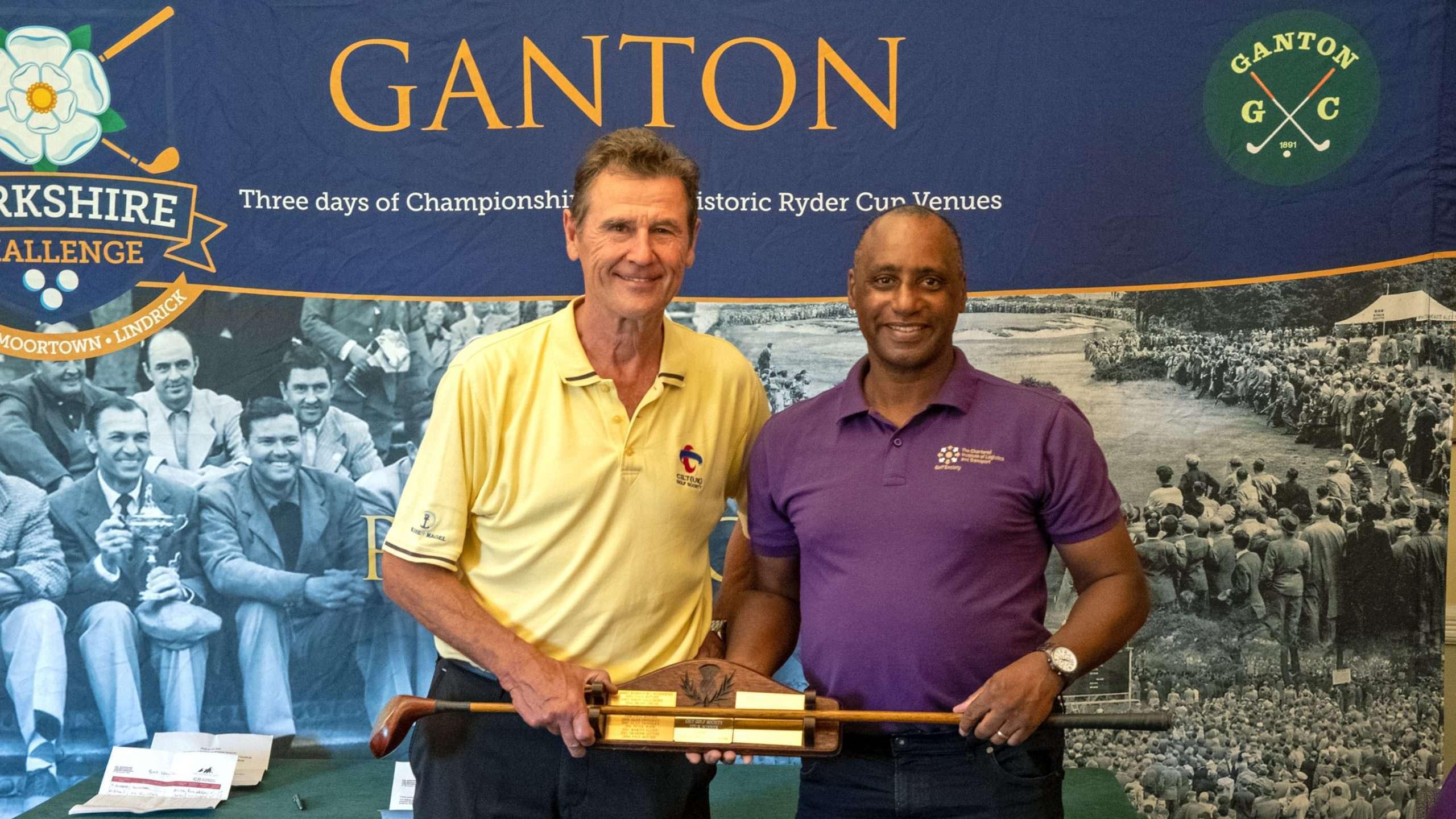 CILT GS Captain, Bob Harper, presents Paul Ritchie with the Tour Trophy