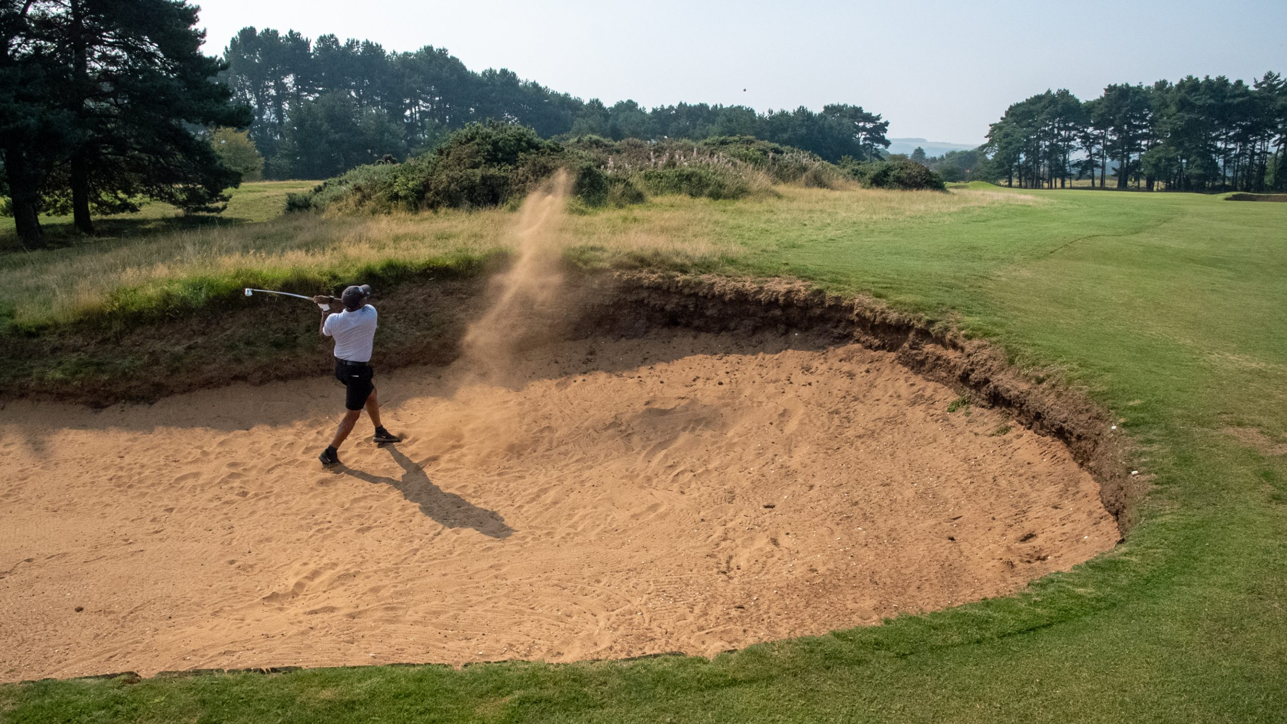 The winner escapes from a bunker